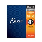 Elixir 12007 Nanoweb Super Light 9/52 7-strings